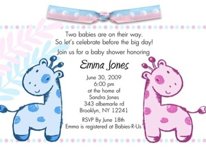 Elegant BABY SHOWER SAVE THE DATE